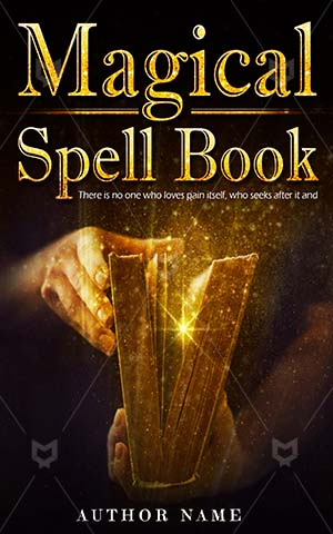 Fantasy-book-cover-Old-Book-Spell-Premade-fantasy-covers-Magic-Power-Books