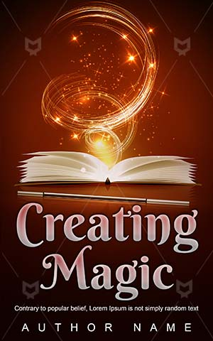 Fantasy-book-cover-Open-Book-Magic-wand-Magical-covers-Spells-Wisdom-Sparkles-Ffantasy-design-Vector-Power