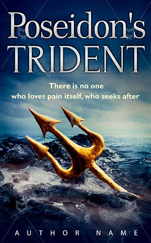 Fantasy-book-cover-Sea-Trident-Poseidon-Object-Element-Metal-Gold-Water-Sharp-Power-Vintage-covers