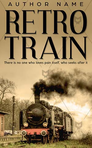 Fantasy-book-cover-Train-Steam-train-Old-Retro-locomotive-station-Haunted-house-Vintage-Tranquil-Village