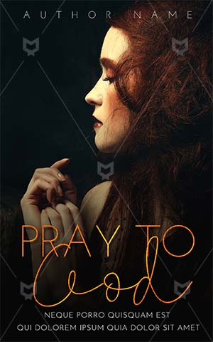Fantasy-book-cover-woman-alone-god-pray-brown-hair-fantasy-design-dark-covers