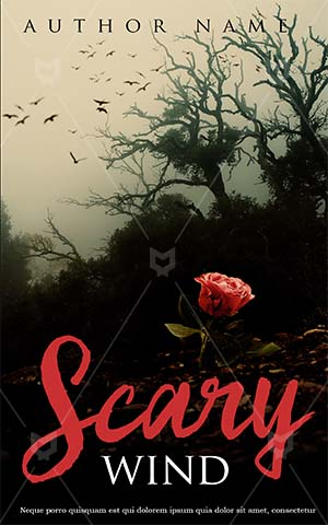 Horror-book-cover-scary-rose-love-wind