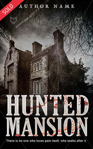 Horror-book-cover-hunted-scary-house