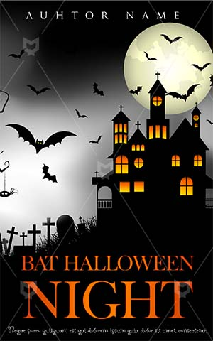 Horror-book-cover-halloween-horror-scary-haunted-house-moon-bat