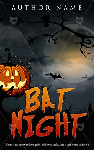 Horror-book-cover-bat-halloween-pumpkin-moon-scary