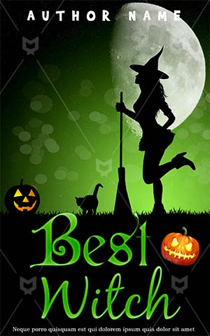Horror-book-cover-witch-halloween-pumpkin-moon-magic-scary