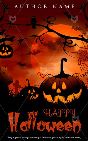 Horror-book-cover-halloween-party-scary-pumpkin-moon-bat
