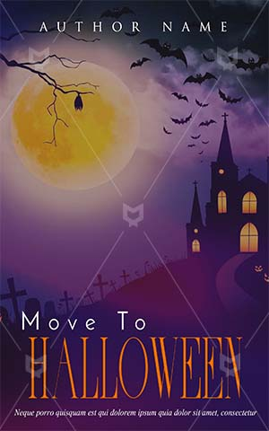 Horror-book-cover-halloween-party-scary-moon-spooky-cemetery