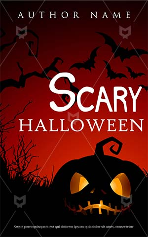 Horror-book-cover-halloween-scary-pumpkin-bat-spooky