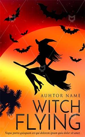 Horror-book-cover-witch-halloween-moon-party