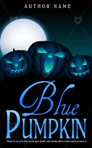Horror-book-cover-pumpkin-blue-kids