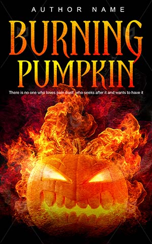 Horror-book-cover-angry-burning-pumpkin