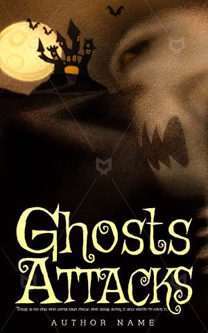 Horror-book-cover-cartoon-ghost-attack