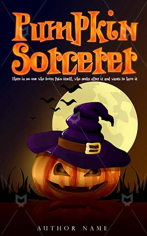 Horror-book-cover-pumpkin-halloween-sorcerer