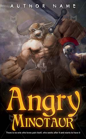 Horror-book-cover-Angry-Greek-Fight-ideas-Minotaur-Monster-Sword-Tale-Fairy-tale-covers-Ancient-Bull