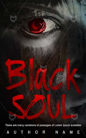 Horror-book-cover-Black-Soul-Face-Dark-Scary-red-eyes-Woman-Halloween-Fear-Spooky-Anger-covers-Demon