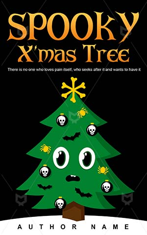 Horror-book-cover-Christmas-Tree-Scary-Vector-Book-christmas-Spooky-Halloween-Bones-Ghosts