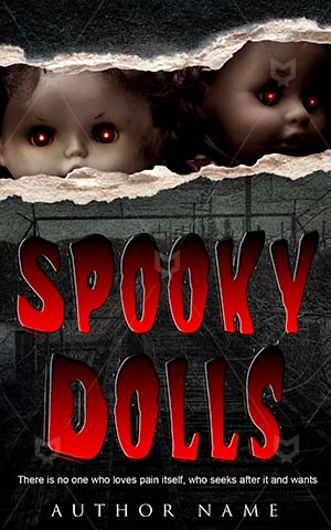 Horror-book-cover-Dark-Dolls-Toy-Scary-covers-Monster-Hunter-Eye-Halloween-Demon-Nightmare