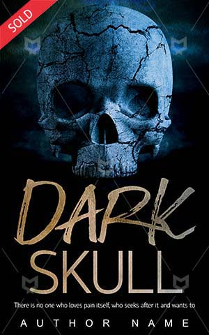 Horror-book-cover-Dark-Skull-Blue-Scary-design-Ancient-Death-Evil-Halloween-Deadly-skeleton-Skeleton-Nightmare-Dead