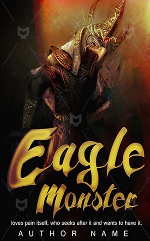 Horror-book-cover-Eagle-Scary-monster-design-man-Illustration-Fantasy-God-Egypt-Wings-Mythology-Island