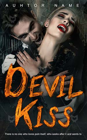 Horror-book-cover-Evil-Halloween-Devil-Love-romance-sweet-kiss-Couple-Vampire-couple-Elegant-Gorgeous-Handsome