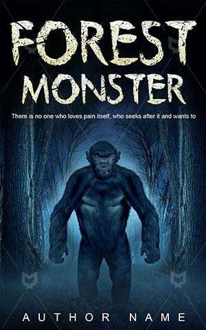 Horror-book-cover-Forest-Monster-Scary-Halloween-Fantasy-Hairy-Domen
