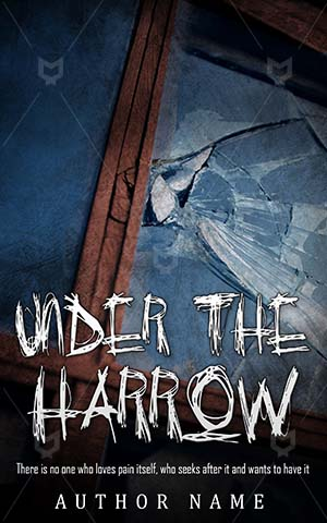 Horror-book-cover-Harrow-Scary-Window-Broken-Blue-Glass-Danger-Wooden-Frame-Old-Architecture-covers