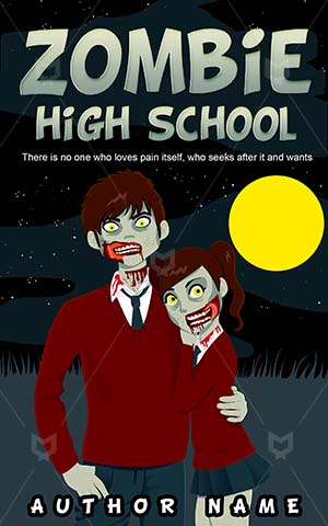Horror-book-cover-High-school-Full-moon-Zombie-ideas-Spooky-Bloody-Relationship-Vector-Best-horror-covers-College