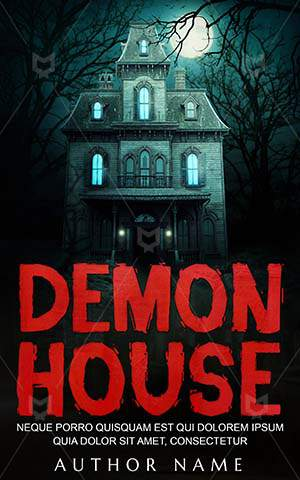 Horror-book-cover-Spooky-house-Demon-Scary-Halloween-Dark-Creepy-pictures-House-Old-covers-Night
