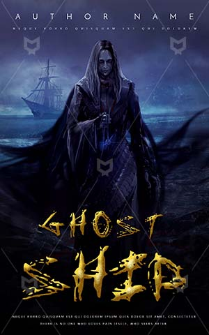 Horror-book-cover-Scary-Witch-Book-Cover-Design-Killer-Zombie-Ship