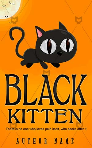 Horror-book-cover-Vector-Illustration-Kitten-Cat-Animal-Black-ideas-Moon-Evil-Spooky-cat