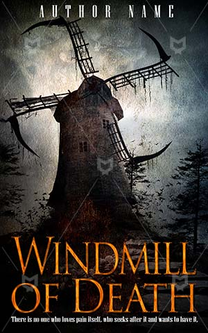 Horror-book-cover-Windmill-Scary-Death-wind-Background-Illustration-Trees-Night-Forest-Artwork-Hill-Gothic-Halloween-Creepy
