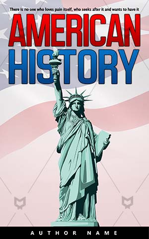 Nonfiction-book-cover-American-Vector-Statue-Liberty-of-liberty-New-york-Freedom-History-Independence-Symbol