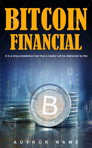 Nonfiction-book-cover-Financial-Concept-Bitcoin-Money-Finance-Pay-Symbol-Coins-Non-fiction-design-Trade-Business