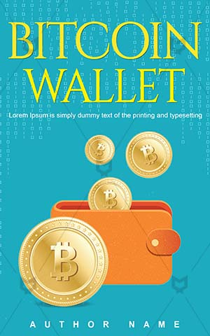 Nonfiction-book-cover-Illustration-Digital-Bit-Coin-Money-Wallet-Bitcoin-Vector-Non-fiction-Commercial