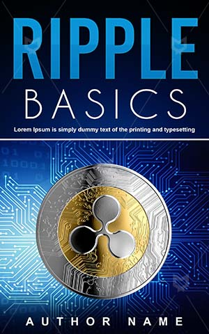 Nonfiction-book-cover-Virtual-money-Ripple-Money-design-Basics-Coin-Cash-Bank-Non-fiction-Bitcoin