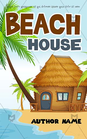 Children-book-cover-kids-trip-house-beach-vacation