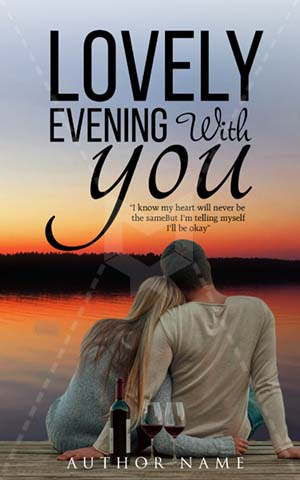 Romance-book-cover-beautiful-evening-love-couple