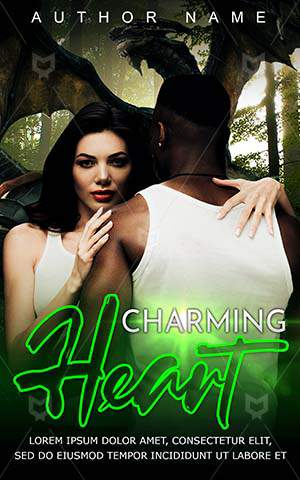 Romance-book-cover-Attractive-Pretty-Romantic-covers-Together-Cute-Dragon-Hug-Black-man-African-American-Couple-Heart