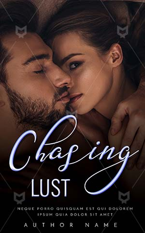 Romance-book-cover-Chasing-Couple-Book-Cover-In-Bed-Kiss-Kissing-Time-Caucasian-woman-Intimate