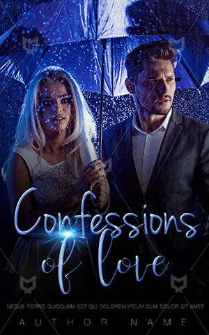 Romance-book-cover-Couple-In-Rain-Umbrella-Book-Covers-Beautiful-woman-Business-people-Rich