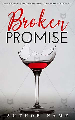 Romance-book-cover-Glass-Broken-Promise-Premade-romance-covers-Red-wine-Break-Wine