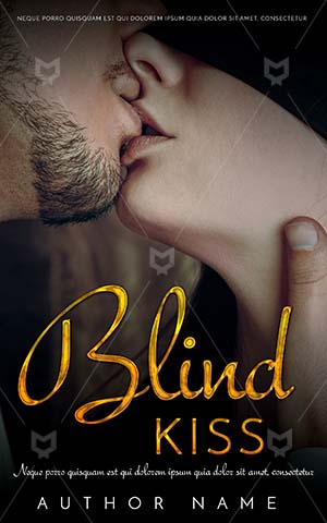 Romance-book-cover-Kiss-Couple-Kissing-Blind-Book-Cover-Design-Closed-eyes-Male-and-female-Happiness-Dark-Room