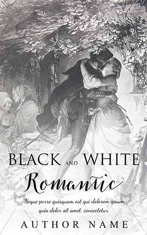 Romance-book-cover-old-love-story-romantic-kiss-black-and-white-design-kissing-romance