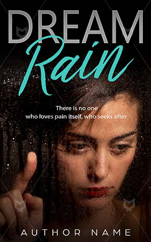 Romance-book-cover-Rain-Dreams-Expression-Looking-Beautiful-Dreamland-Teenager-Loneliness-Book-covers-for-girls-Hope-Cute-Sensuality