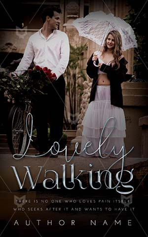 Romance-book-cover-Walking-Bride-Street-Groom-Beautiful-Day-Lifestyle-Togetherness-Blonde-Bicycle-Couple-with-White-Dress