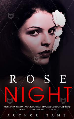 Romance-book-cover-Woman-Alone-Model-Withe-Rose-Scary-Beautiful-Young-Girl-Dark-Room-Romantic