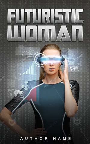 SCI-FI-book-cover-future-girl-technology