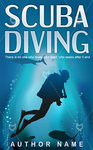 Sports-book-cover-Diving-Underwater-Scuba-diving-Sport-Activity-Blue-Vector-Summer-People-Water-Air-Light-Ocean-Tourism