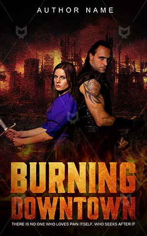 Thrillers-book-cover-burning-town-couple